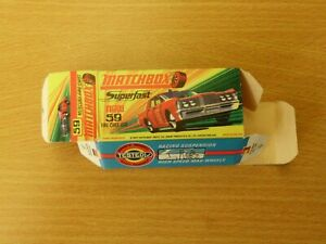 MATCHBOX SUPERFAST #59 MERCURY FIRE CHIEF CAR  ORIGINAL PICTURE BOX ONLY