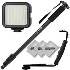 """Opteka 72"""" Monopod, Flash Bracket, and Video Light for Cameras & Camcorders"""