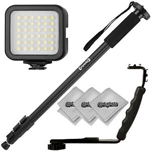 "Opteka 72"" Monopod, Flash Bracket, and Video Light for Cameras & Camcorders"