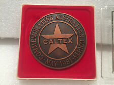 RARE1981 Caltex Vintage Petrol Advertising Rare EQUITY MEDAL MEDALLION COIN AUST