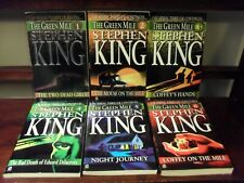The Green Mile Set Parts 1-6 Serial Thriller by Stephen King (1996 Signet Pb)