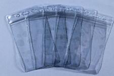 5 Badge Holder Heavy Duty Vinyl Clear Vertical Zip Close Top Fishing License ID