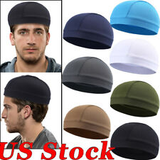 Skull Cap Quick Dry Sports Sweat Beanie Hat Great Cycling Dome Cap for Men Women