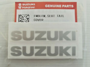 2 x ORIGINAL SUZUKI Schriftzug-SILBER-7,2cm-Aufkleber-EMBLEM-LOGO-Sticker