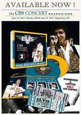 ELVIS THE CBS CONCERT RECORDING 19-21/6/77 DIGIPAK 2 CDS 2 REPLICA TICKET SEALED