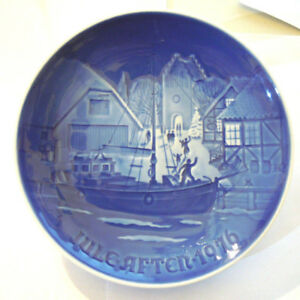 Bing & Gröndahl PIATTO DA COLLEZIONE DI NATALE DENMARK 1976 Ø 18 Cm  (VPP)
