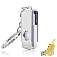 2TB 256GB USB 2.0 Flash Drive Memory Stick Pen U Disk Key Thumb PC Metal Swivel