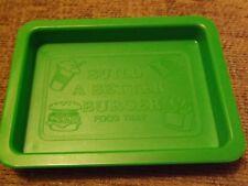 RICAMBI per VINTAGE 1984 Build a Better Burger Gioco Azione GT vassoio di cibo Verde