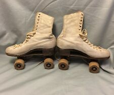 Vintage Women's Betty Lytle Styled By Hyde Wood Wheels Roller Skates Chicago Whl