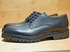 NEW! OVADIA & SONS 8 MIDWOOD DERBY BLACK SCOTCH GRAIN LEATHER HAND MADE IN ITALY