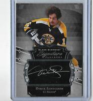 2017-18 Upper Deck Black Diamond Signature Placards Derek Sanderson Boston Bruin