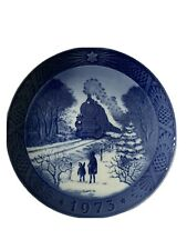 Royal Copenhagen Denmark 7� Christmas Plate 1973 Going Home For Christmas