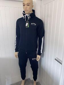 Hugo Boss Tracksuit Hooded Jacket & Pants Mens Navy New Season Size Small £119