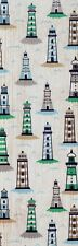 Lighthouses decorative paper, laminated bookmark