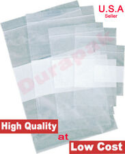1000 2 Mil 3x4 Zip Reclosable Lock Seal Top Clear Poly Bags With Writing Block
