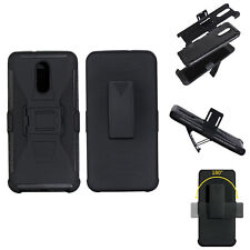 For LG Q Stylus Shockproof Case w/ Belt Clip Anti-slip Armor Defender Grip Cover
