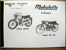 Mobylette/Moped/ SP50 / SPTT /In French/ Parts Book With Exploded Diagrams