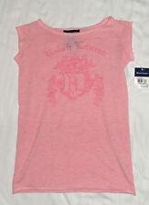 NUEVO RALPH LAUREN Rosa Estampada Camiseta Talla 6 años niña Auténtico