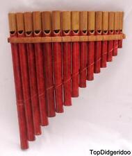 Authentic Native PAN FLUTE 15 Bamboo Pipes Beautiful Zampona SHIPS FREE