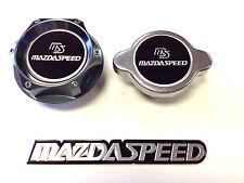 Mazda Racing Cnc Billet Oil Filler Cap & 1.3Kg Radiator Cap Kit (Fits: Mazda 323)