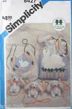 Vtg Baby pattern Bunny bib crib toy diaper bag FF