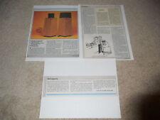 Ohm Walsh 2 Speaker Review, 3 pg, 1982, Full Test