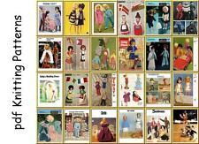 Los patrones de tejido & Crochet para bebé muñecas y muñecas Barbie & Bazar juguetes en CD