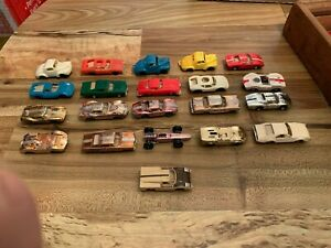 Aurora cigar box toy car lot.