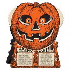 "Vintage Halloween Jack O Lantern Fortune Wheel Game 9"" x 7.5"" Paper Halloween"