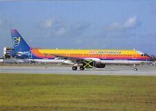 Air Jamaica , Airbus A321 ,Ansichtskarte, ungel.