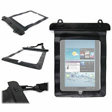 """Black Carry Case For Samsung Galaxy Tab 2 (7"""" wi-fi) - Waterproof PVC With Strap"""