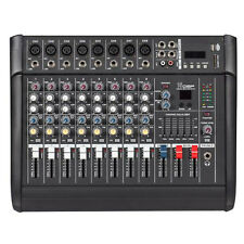 2000 Watts 8 Channel Professional Powered Mixer power mixing Amplifier Amp USB