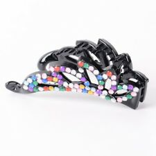 Women Banana Hair Claws Clips Clamp Crystal Rhinestone Plastic Hollow Accessory