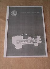 Colchester Mascot Round Head Lathe Manual (World Post)