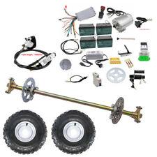"Go Kart Rear Axle Kit Sprocket & Hub, Brake Assembly, 6"" Wheels, 1800w Motor Kit"