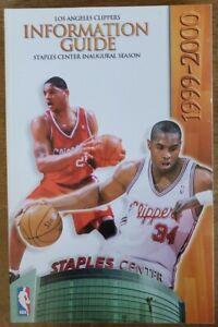1999-2000 LOS ANGELES CLIPPERS MEDIA GUIDE - MICHAEL OLOWOKANDI COVER - NBA