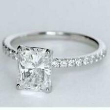 3 Carat Radiant Cut Diamond Engagement Ring VS2/D White Gold 14k 6243