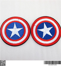 1 EMBROIDERED BOYS CIRCLE CAPTAIN AMERICA IRON ON SEW ON PATCH CLOTHES CRAFT ONL