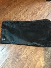 "Vintage Rose Bertin Reptile Leather Clutch Handbag Antique Mint 8"" x 16"""