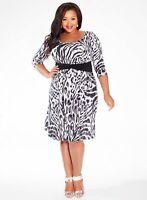 Igigi Women's Dress Black White 18 20 Selby Style Made In USA 2X Work Date Night