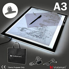 "Voilamart 19"" A3 LED Tracing Light Box Drawing Board Pad Stencil Display Artist"