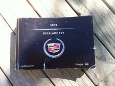 Cadillac EXT ESCALADE - 2009 - Owner's Manual - IN FRENCH - FINE - TEARS
