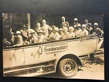 RPPC Postcard Nuremberg Germany - Tourists Riding Open Top Tour Bus