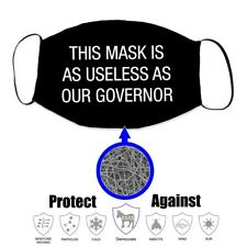 Worthless as Our Governor Face Mask Covering Trump 2020 - New