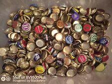 120 Beer Bottle Caps mixed - No dents, Assortment of caps.