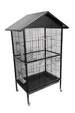 Bird Cage Budgies Parrotlet Cockatiel Flight Cage Medium Metal A26 Black