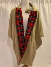4cabdfb46f4d Burberry Greymere Reversible Cape Coat Poncho Tartan Size Small Honey
