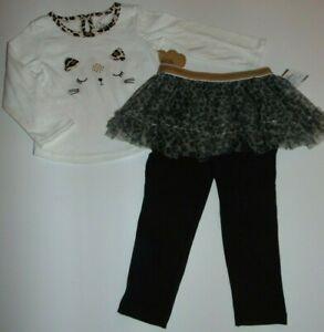 ~NWT Girls BABY ESSENTIALS Leopard Print Tutu Outfit! Size 18 Months Super Cute!