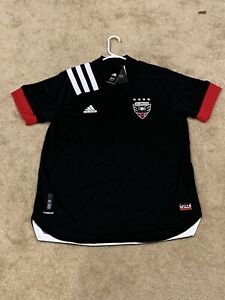 Mens (L) DC United Adidas Aeroready Authentic Home Soccer Jersey NWT $130