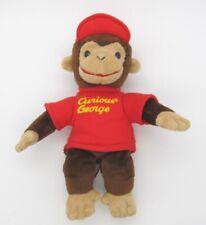 "Curious George GUND Stuffed Animal Beanbag Plush 10"" tall w/ Red Hat"
